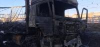 В Дзержинске сгорел большегруз
